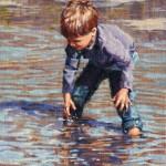 Sonya Terpening, Tadpoles!, oil, 12 x 9.