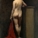 Terra Chapman, Girl with Red Cloth (Back), oil, 10 x 5.