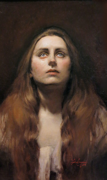 Terra Chapman, Mary Magdalene, oil, 16 x 23.