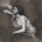 Terra Chapman, Siren, graphite/chalk, 20 x 24.