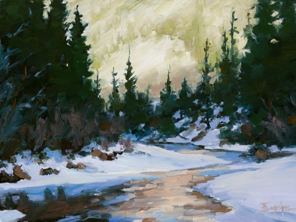 Terri Sanchez, Backlit Glow, oil painting