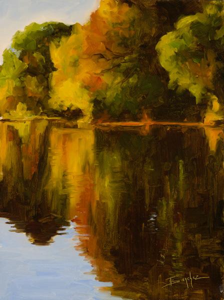 Terri Sanchez, Oak Reflections, oil painting