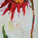 Terrie Lombardi, Saucy Faces II, oil, 12 x 6.