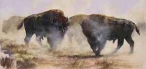 Terry Donahue, Emergent, pastel 24 x 48.