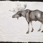 Rebecca Tobey, Teton Monarch, watercolor/embossed paper, 22 x 30.
