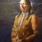 John Solie, The Assiniboine, oil, 30 x 24.