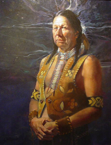 John Solie, The Assiniboine, oil, 30 x 24.