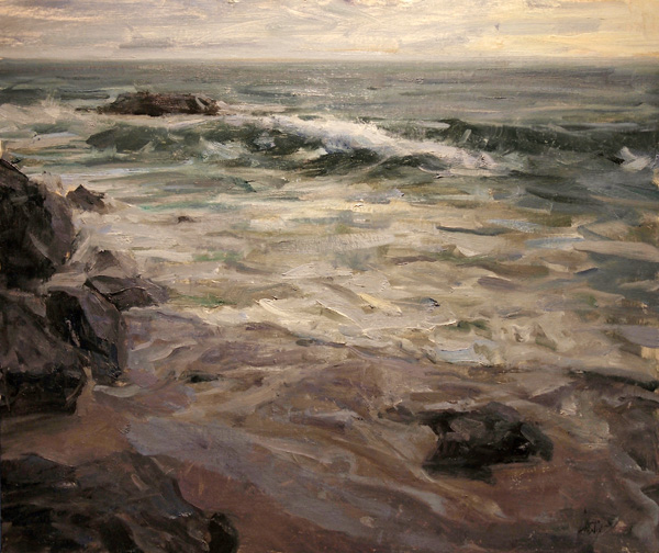 Derek Penix, The Beach, oil painting