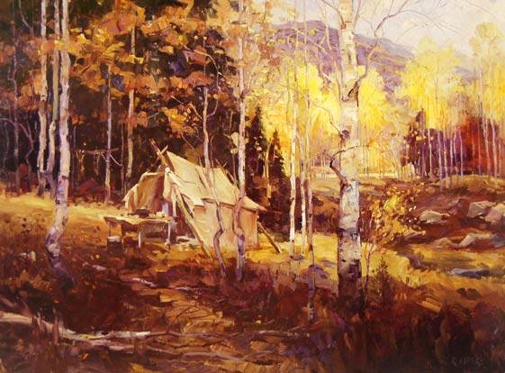 Robert Moore | The Camp, oil, 36 x 48.