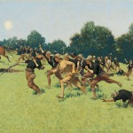 Frederic Remington, Charge of the Rough Riders, oil, 35 x 60.