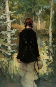 Johanna Harmon, The Clearing, oil, 34 x 22.