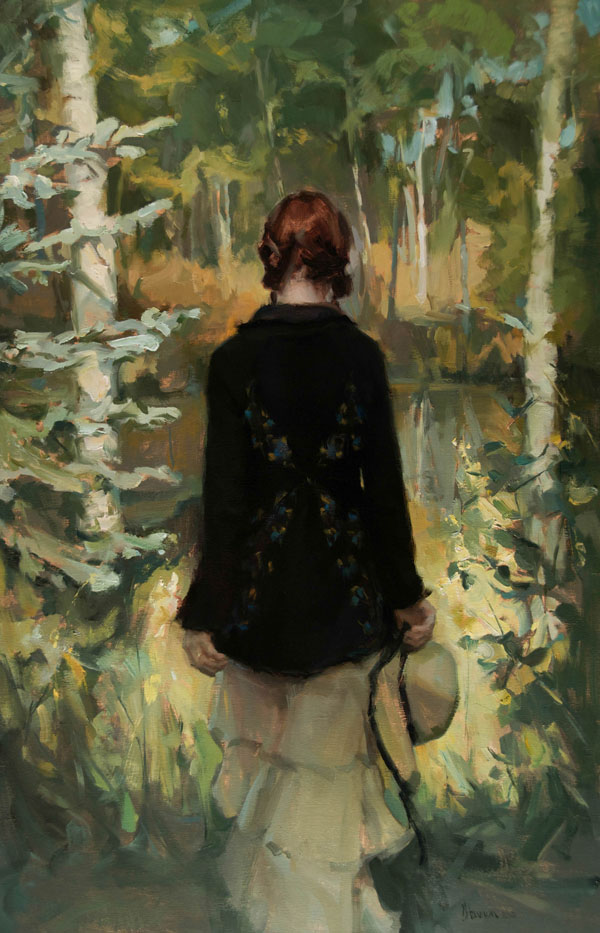 Johanna Harmon, The Clearing, oil, 34 x 22.