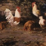 Robert Johnson, The Doctors' Chickens, oil, 32 x 40.