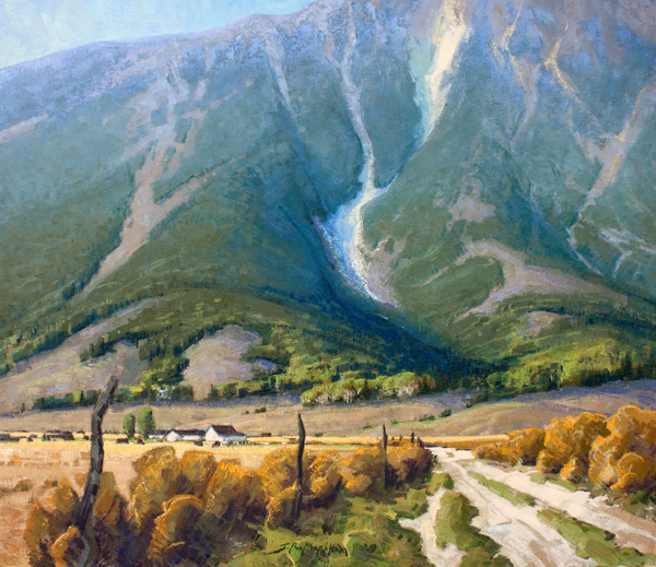 Jerry Markham, The Heart of Montana, oil, 28 x 32.