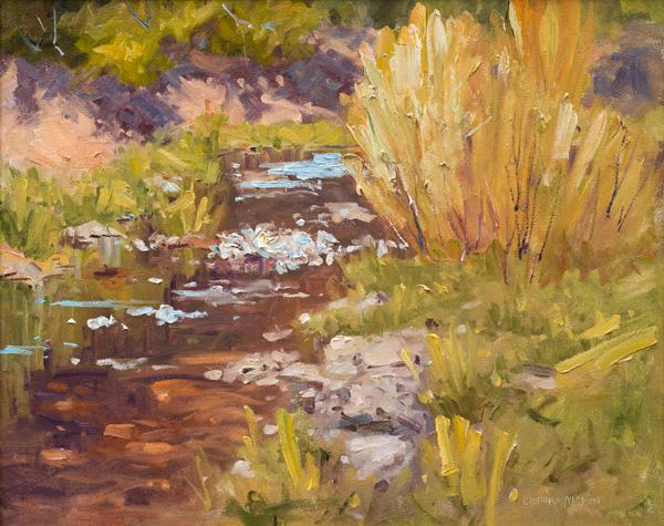 Clarence Medina, The Jemez, oil, 24 x 30.