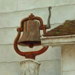 Mervyn Vowles, The Kuerner Farm Bell, oil, 18 x 18.