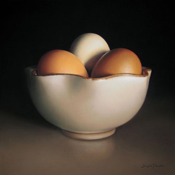 The Lotus Bowl, pastel, 16 x 16.