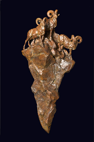 Tim Shinabarger, The Mountaineers, bronze, 48 x 23 x 10.