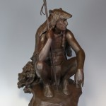 Paul Moore, The Outlier, bronze, 37 x 15 x 22.