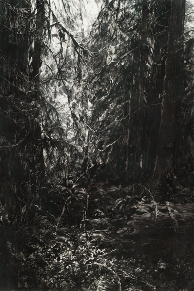 Robin Cole Smith, The Passage, encaustic/charcoal, 45 x 30.
