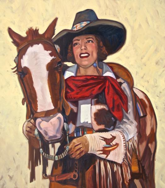 Dennis Ziemienski, The Red Bandana, oil, 40 x 36.