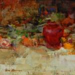 Ron Barsano, The Red Jar, oil, 11 x 14.