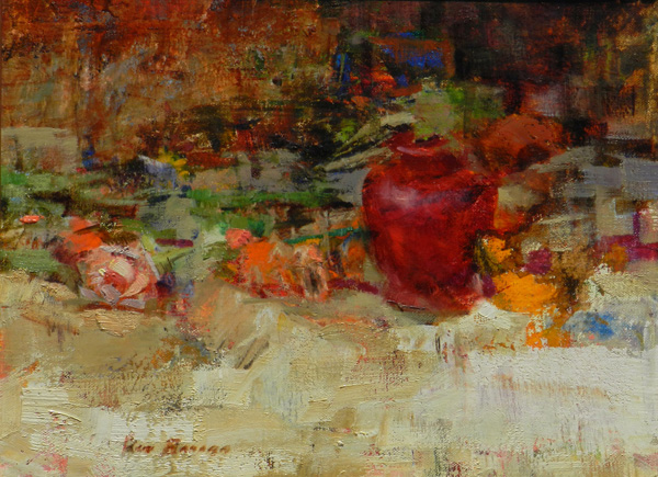 Ron Barsano, The Red Jar, oil, 11 x 14.