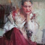 Carolyn Anderson   The Red Skirt, oil, 20 x 16.