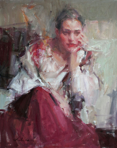 Carolyn Anderson | The Red Skirt, oil, 20 x 16.