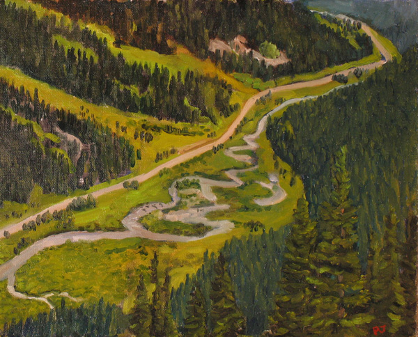 Paul Jarzemsky, The Road to Independence, oil, 11 x 14.