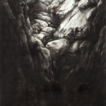 Robin Cole Smith, The Source, encaustic/charcoal, 68 x 34.