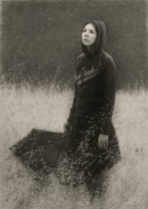 Julio Reyes | The Stars Above, charcoal, 34 x 23.