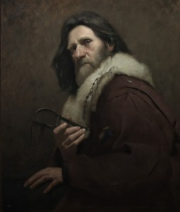 David Gluck, The Trapper, oil, 30 x 20.
