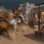 Andy Thomas, Los Hombres Malos, oil, 30 x 40.