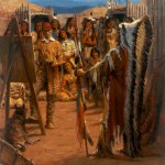 Andy Thomas, The Mandan Chief, oil, 40 x 30.