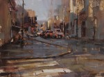 Tibor Nagy, Morning Traffic, oil, 12 x 16.