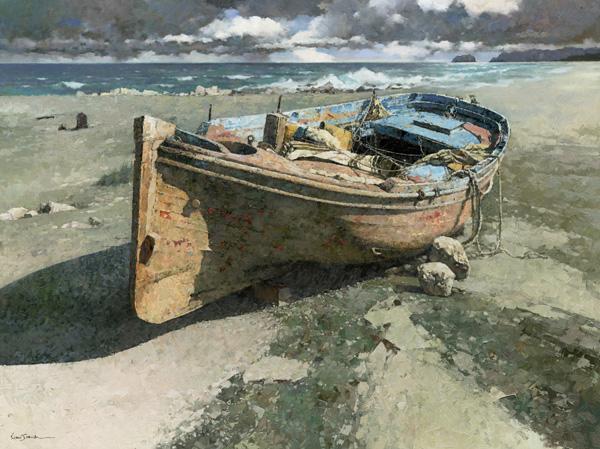 Xiao Song Jiang, Tide, oil, 30 x 40.