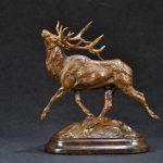 Tim Shinabarger, Wapiti, bronze, 8 x 8 x 3.