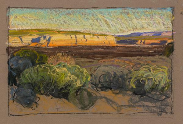 Tim-Solliday-'Illuminated-Cliffs'-Pastel-7-x-11