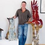 Sculptor Josh Tobey at his art studio in Loveland, CO