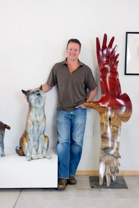 Sculptor Josh Tobey at his art studio in Loveland, CO