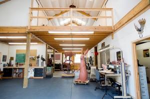 Sculptor Josh Tobey's art studio in Loveland, CO