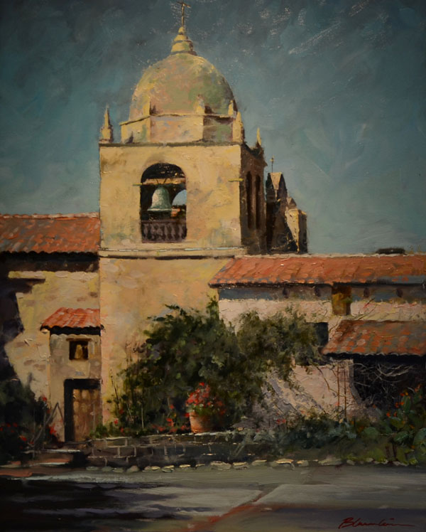 Tom Bluemlein, Carmel Mission, oil, 30 x 24.