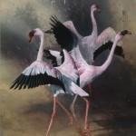 Andrew Denman, Modern Dance, acrylic, 35 x 24.