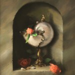 Tracy Wilson, Antique Nautilus Cup With Roses, pastel, 20 x 16.
