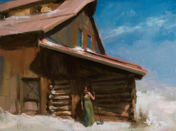 Johanna Harmon, Tranquil, oil, 12 x 16.