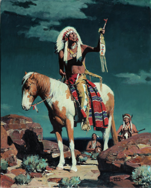 David Mann, Tribute to the Moon, oil, 30 x 24.