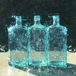 Mark Andrew Bailey, Triple Gin, oil, 30 x 30.