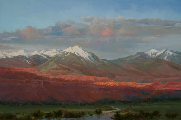 Cecy Turner, Fading Light, Utah, oil, 20 x 30.