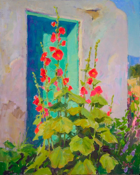 J. Chris Morel | Turquoise Door, oil, 20 x 16.